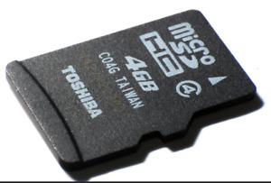 New Toshiba 4GB Micro SD  SDHC Memory Card Class 4 Mobile Phone Tablet Camera