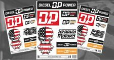 Official Diesel Power Gear Decal Sticker Set - Cummins, Duramax, Powerstroke