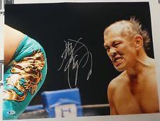 Minoru Suzuki Signed 16x20 Photo BAS COA Pancrase MMA New Japan Pro Wrestling 2