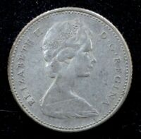 1966 10C Canadian 80% Silver Queen Elizabeth II Canada Dime - FINE (F)