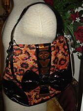 NWT Betseyville Betsey Johnson Small Hobo Digital Love Handbag,Purse,snake skin