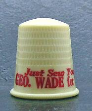 Political advertising plastic thimble for GEORGE WADE for SENATOR  Pennsylvania