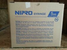 Nipro Syringes 5ml Box of 25  5cc Luer Lock without needle Sterile JD+05L