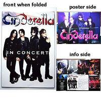 Cinderella In Concert Tour Poster Program Book New Official Rare Band