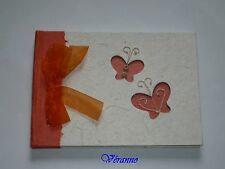 Livre d'or papillon orange. Hobi.Accessoire pour mariage.