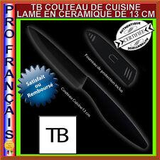 COUTEAU CUISINE CERAMIQUE TOP QUALITE TB 13 CM LAME NOIRE + ETUI DE PROTECTION