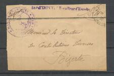 1930 Bande journal FM obl TUNISIE Griffe LA TEMPÊTE Torpilleur d'escadre X3761