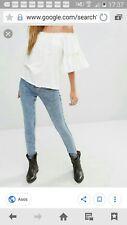 New Look Jeggings Skinny Jeans Blogger  blau acid wash Stretch Gr. 36/38