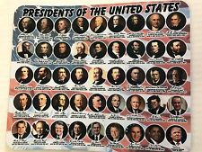 NEW PRESIDENTS OF THE UNITED STATES MOUSE PAD WITH DONALD J. TRUMP 45 TH 9x7.5 ""