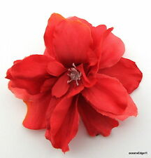 """2 1/2"""" Variegated Coral Apple Blossom Silk Flower Hair Clip,Pin Up,Updo,Hat"""
