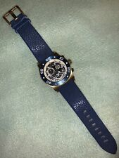 Mens Invicta Speedway Reserve Swiss Chrono Skeleton Stingray Leather Watch EC