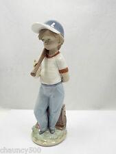 Lladro Figurine Can I Play? #7610 Boy with Baseball, Collectors Soc 1990, w box