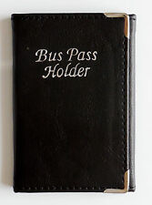 Men Women Real Leather Trifold Bus Pass Travel Card Credit Card ID Card Holder