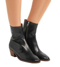 NEW with box Org.$670 Isabel Marant Étoile Doynie glossed-leather ankle boots 40