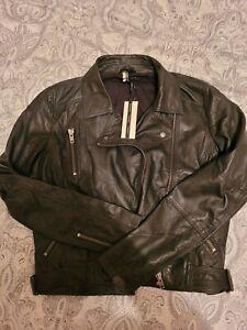 Topshop Real Leather Biker Jacket Unworn Size 14 BNWT