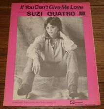 SUZI QUATRO IF YOU CAN'T GIVE ME LOVE ORIGINAL 6-PAGE UK SONG SHEET MUSIC 1978