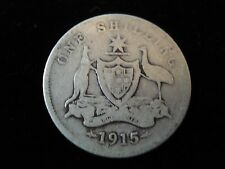 Australian 1915 Shilling Sterling Silver Coin #AC1