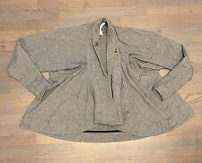 LULULEMON GRAY CABIN YOGA BUTTON SHRUG WRAP JACKET Woman's  SIZE 6