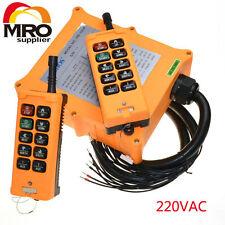 220VAC 10 channel 2 Speed  Hoist Crane Truck Radio Remote Control  Controlle