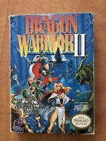 Dragon Warrior II ii 2 Nintendo NES RPG Complete CIB Box Map Poster Manual VG