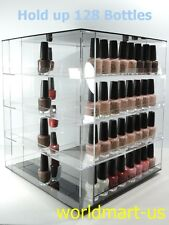 Rotatable Nail Polish Display Rack hold up 128 bottles/ Carries OPI, ESSIE...