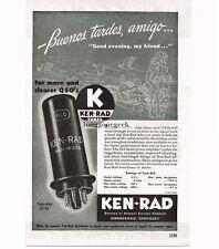 1946 Ken-Rad 6L6 Radio Tubes Vtg Print Ad