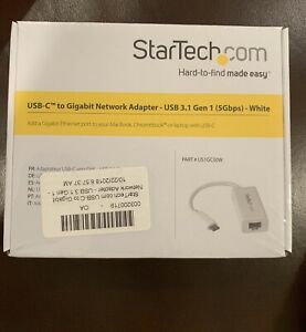 Startech USB-C to Gigabit Network Adapter  US1GC30W- USB 3.1 Gen 1 (5Gbps) White