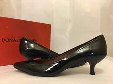 Donald J Pliner Tomm Black Patent Leather Women's Mid Heels Pumps Size 8.5 M