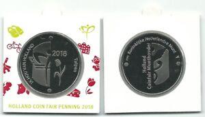 Holland coin fair penning in munthouder 2018 Ik hou van Holland tulpen BU