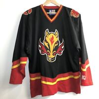 Starter Calgary Flames Horse Head Alternate NHL Jersey Adult XL Authentic Sewn