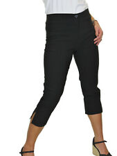 Ladies High Waist Skinny Stretch Pedal Pushers Cropped Trousers 8-22