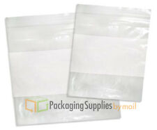 "10000 Clear White Block 10""x13"" Zipper Reclosable Plastic 2 Mil Writable Bags"
