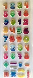 3D Puffy Numbers Stickers for Kids Reward Scrapbook Craft Sheets Top Quality