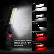 Powerful Bright Rechargeable Cob Led Work Light Flashlight Torch Magnetic Lamp