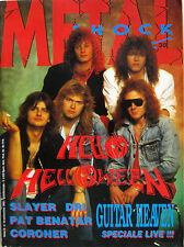 METAL SHOCK 30 1988 Helloween Slayer DRI Yes Pat Benatar Coroner James Young
