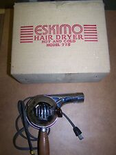 vintage Eskimo model 775 hairdryer with box and paperwork