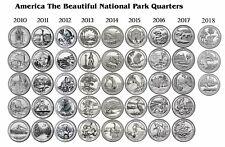 2010 - 2018 ATB NATIONAL PARK 43 COIN QUARTER SET - Denver Mint
