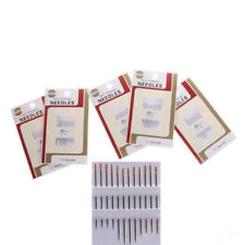 60 Self Threading Sewing Needles Easy Thread Assorted Sizes Metal Hand Sewing