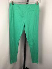 LuLaRoe Legging Sz M Green Teal Solid Comfy Lounge Stretch