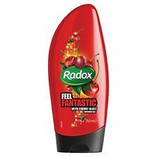 2 x Radox Feel Fantastic Shower Gel 250ml Each Cherry Blast Body Cleanser