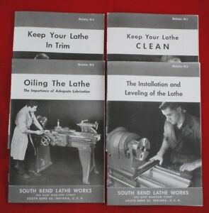 South Bend Metal Lathe Works Setup Instruction Training Bulletin Manual Set of 4