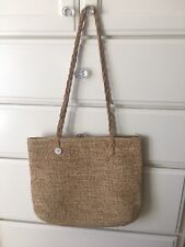 Handwoven Straw Bag With Zipper