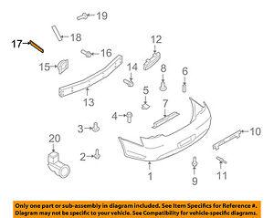Infiniti NISSAN OEM 09-13 G37 Rear Bumper-Side Bracket Left 85221JK00B