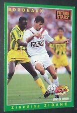 #225 ZINEDINE ZIDANE FUTURE STARS GIRONDINS BORDEAUX PANINI CARD FOOTBALL 1995