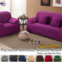 US Sofa Cover Spandex Stretch Cushion Cover Pillow Case Polyester Furniture Pad