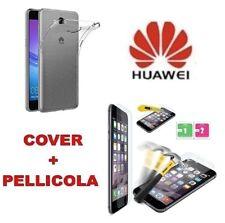 Cover Slim silicone trasparente Huawei Y5Y6 2017 - Nova Young + Pellicola Vetro