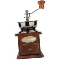 Wooden Manual Coffee Grinder Hand Crank Coffee Mill With Grind Settings