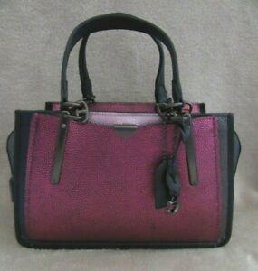 COACH 38841 Metallic Colorblock Berry Multi Dreamer Satchel Handbag Purse NWT