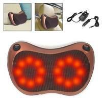 16 Kneading Head Neck Shoulder Back Massage Pillow Cushion Shiatsu Electric Heat