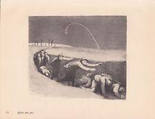 ✒ gravure Jean VEBER guerre 14-18 - Alerte aux gaz